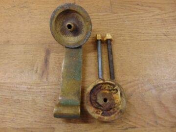Edwardian Brass Door Knocker D585-0720 - Antique Door Knocker Co