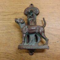 Foxhound Door Knocker - D076-1120 Antique Door Knocker Company