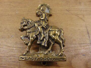 Brass Lady Godiva Door Knocker - D185-0720 Antique Door Knocker Company