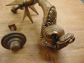 Maltese Fish Door Knocker D281L-1120 Antique Doorknocker Company