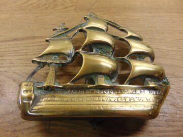 Sailing Ship Door Knocker - D289-1120 Antique Door Knocker Company