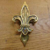 Fleur-de-Lis Door Knocker - D016-1220 Antique Door Knocker Company