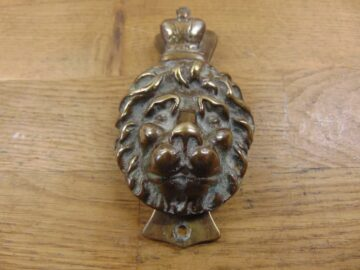 Lion Door Knocker - D197-1220 Antique Door Knocker Company