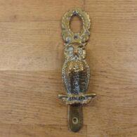 Antique Brass Owl Door Knocker - D416-1220 Antique Door Knocker Company