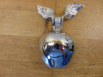 Chrome Apple Door Knocker - RD021L Antique Door Knocker Company