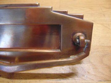 Copper Art Deco Letterbox - D451L-0121 Antique Door Knocker Company