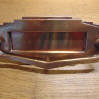 Copper Art Deco Letterbox - D451L-0121 Antique Door Knocker Company