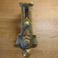 Floral Arts & Crafts Door Knocker - D259L-0121 Antique Door Knocker Company