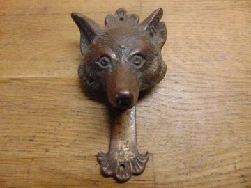 Fox's Head Door Knocker - D477-1220 Antique Door Knocker Company