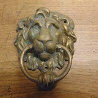 Lion Door Knocker - D644-0121 Antique Fireplace Company