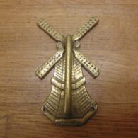 Brass Windmill Door Knocker - D669-0221 Antique Door Knocker Company