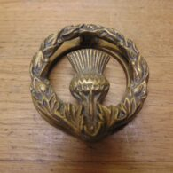 Antique Brass Thistle Door Knocker-D674-0221 Antique Door Knocker Company