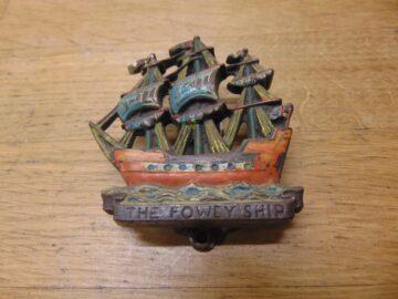 The Fowey Ship Door Knocker - D685-0221 Antique Door Knocker Company
