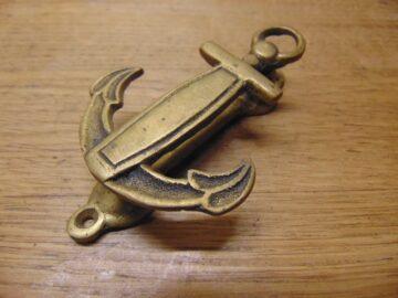 Brass Anchor Door Knocker - D688-0221 Antique Door Knocker Company