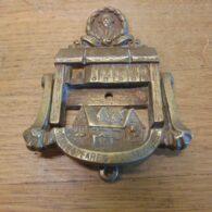 Shakespeare's House & Desk Door Knocker - D696-0221 Antique Door Knocker Company