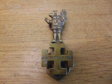 Winchester Cross Door Knocker - D700-0221 Antique Door Knocker Company