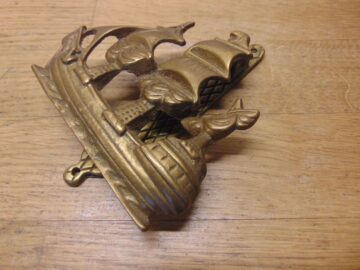 Elizabethan Galleon Door Knocker - D110-0421 Antique Door Knocker Company