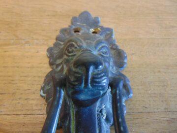 Antique Lion Door Knocker - D241-0321 Antique Door Knocker Company
