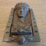 Pharaoh Door Knocker - D317-0321 Antique Door Knocker Company