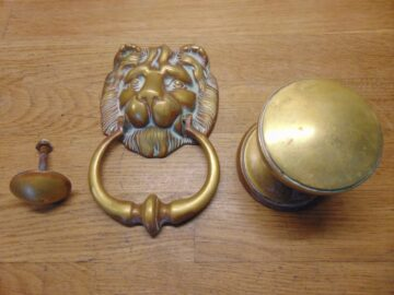 Georgian Door Furniture Set - D370L-0421 Antique Door Knocker Company