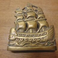 Vintage Sailing Ship Door Knocker - D450-0421 Antique Door Knocker Company