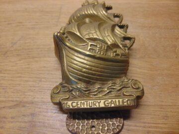 16th Century Galleon Door Knocker - D693-0421 Antique Door Knocker Company