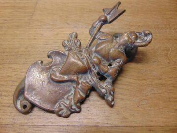 Antique Knight Door Knocker - D713-0421 Antique Door Knocker Company
