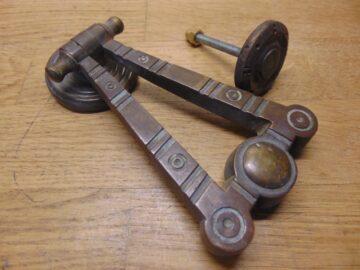 Brass Arts & Crafts Door Knocker - D715-0421 Antique Door Knocker Company