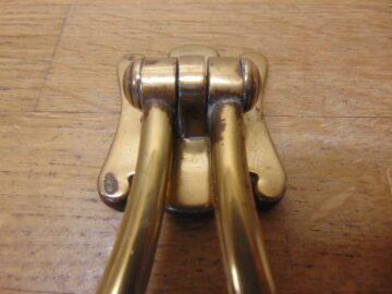 Brass Arts & Crafts Door Knocker - D716-0421 Antique Door Knocker Company