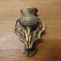 Scottish Thistle Door Knocker-D124-0521 Antique Door Knocker Company