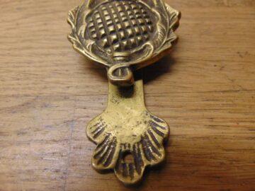 Antique Thistle Door Knocker - D252-0521 Antique Door Knocker Company
