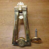 Arts & Crafts Door Knocker - D320L-0521 Antique Door Knocker Company