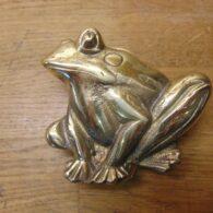 Brass Frog Door Knocker - RD022L Antique Door Knocker Company