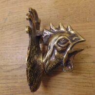 Brass Cockerel Door Knocker - D255-0821 Antique Door Knocker Company