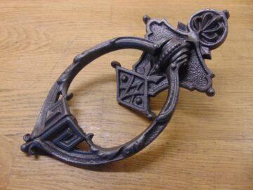 Oval Cast Iron Door Knocker - D383L-0921 Antique Door Knocker Company